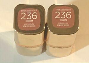 (2) L'oreal  LIPSTICK Colour Riche Satin , 236 Organza