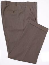 PAL ZILERI Brown Twill Pleated Wool Dress Pants Trousers 34 x 28