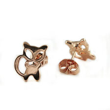 Fashion Jewelry - 18k Rose Gold Plated Cat Stud Earrings (FE388)