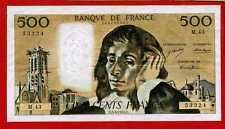 (Ref: M.43) 500 FRANCS PASCAL 5/09/1974 (TTB)