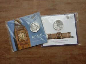 GB Royal Mint 2015 2 x silver £100 coins NEW & SEALED Big Ben Buckingham Palace