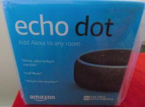 Amazon Echo Dot 3rd Generation Charcoal Alexa Smart Speaker NEW in Box