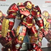 Avengers Iron Man MK44 1/12 Scale Action Figure Toy Alloy Led Hulkbuster Model
