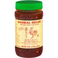 Huy Fong-Sambal Oelek Chili Paste, Pack of 3 ( 8 oz jas )