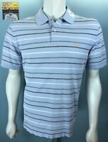 Mens Brooks Brothers S/S Large Performance Polo Shirt Arctic Blue Silver Steel