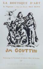 """""""JM GOUTTIN : EXPO sur le thème LA MUSIQUE 1964"""" Affiche originale entoilée"""