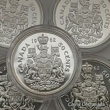 1962 Canada Silver 50 Cents UNCIRCULATED Coin -Multiple Available #coinsofcanada