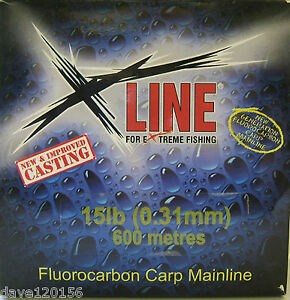 250m/600m X-LINE FLUOROCARBON CARP MAINLINE ALL SIZES