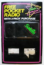 SALEM FREE POCKET RADIO cigarette promotion NIB transistor sealed package