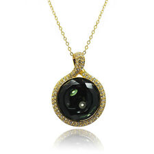 De Buman 14k Gold Plated Crystal Necklace