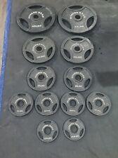 """Fitness Gear Olympic 2"""" Weight Plates Set of (2) 2.5lb, 5lb, 10lb, 25lb, 45lb"""