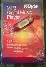New Sealed Kbyte MP3 Digital Music Player 128 MB USB Voice Recorder Free Ship