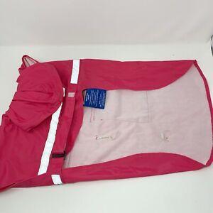 Guardian Gear Dog Brite Rain Jacket Hooded Coat Reflective Raspberry Pink Sz L
