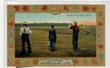 READY FOR THE DAY'S WORK: Canadian Homestead Life postcard (C30290)