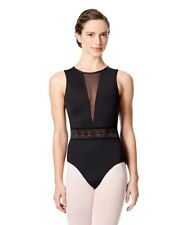 justaucorps de danse , body LULLI dancewear Bettina LUF522, noir, en S ou L