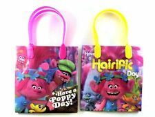 """Dreamwork Trolls Small 6"""" Reusable Party Favors Goodie Gift Bags X 12"""