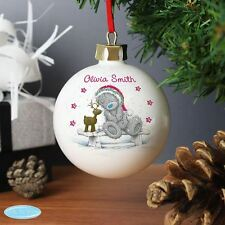 Me To You Personalised Reindeer Christmas Bauble Tree Decoration Gift