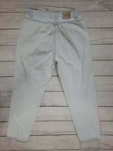 Vintage LEE Womens High Elastic Waist Mom Tapered Jeans Denim 16 26L Petite