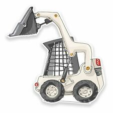 2 x Construction Digger Vinyl Sticker Car Travel Luggage #9538