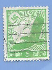 Germany Third Reich Nazi 1934 Nazi Swastika Eagle Luftpost 5 Stamp WW2 ERA #1