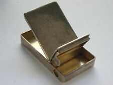 English Silver Match Safe Cigar Cutter 1870 London Henry DEE