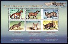 Liberia 1999 MNH SS, Wild Animals, Wild Dogs Fox Jackal Coyote (N204)