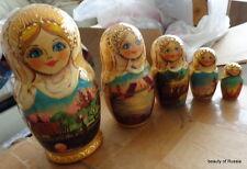 Sankt Peterburg Russian Nesting Doll 5 Pcs Large 6.3*