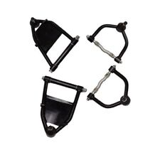 For Ford Mustang 2 II Tubular Control Arms Upper And Lower Air Bag Black Finish
