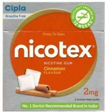Cipla Nicotex Nicotine Gum - 2 mg 9x10 Pieces Cinnamon Stop Smoking Aid 90 Count