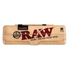 RAW Rolling Papers Classic Paper Holder Case King Size Slim Metal Tin Storage