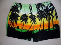 vintage 80`s hawaii shorts beach pants oldschool festivaloutfit 80er surf M