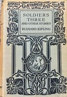 Rudyard Kipling Soldiers Three and Other Stories Vintage 1920 Rare Jungle Book
