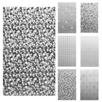 45x100cm 3D Static Cling Home Window Film Stained Glass Paper Frosted Decor #ORP