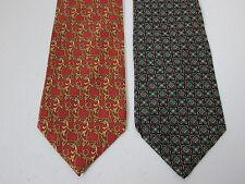 Silk Tie Lot Of 2 Necktie Richel And Leonardo Ltrelli New 3.75 x 58 Inch