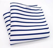 Silk Handkerchief Classic Men Jacquard Woven Striped Pocket Square 25*25cm Hanky