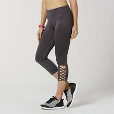 Everlast Performance Slim Fit Ankle Legging Black Zip Waist Pocket XL NEW