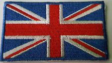 IRON ON EMBROIDERED BRITISH FLAG GB UK Union Jack Motorbike Patch Brand new