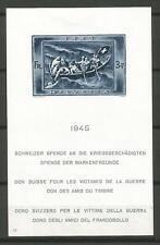 Switzerland / Helvetia / Suisse 1945 - Souvenir Sheet 11 MH * CV 135€