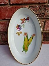 Royal Worcester Evesham Oval Casserole Serving Dish Corn & Berries Oven to Table