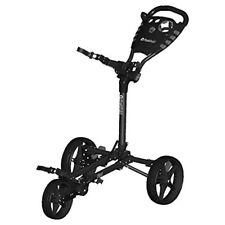 Fast Fold Flat Golf Trolley, Charcoal/black, One Size - Fast 3wheel Trolley