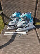 New listing Girls Adjustable decathlon  Ice Skates Size 35-38 / Uk 2.5 to 5 worn twice