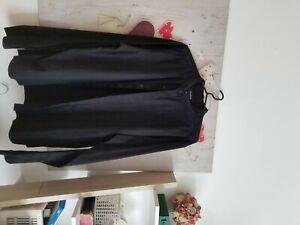 mens grandad shirt firetrap black size XXL