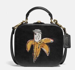 Coach X Jean-Michel Basquiat Square Bag w/Glovedtanned Leather-Black NWT