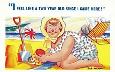 POSTCARD   COMIC        Seaside   Related....
