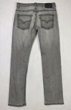 LEVIS 511 Jeans Boys 16 Gray Denim Performance Slim Skinny Fit Stretch 28 x 28