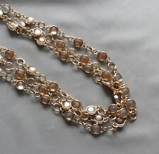 Fashion COLDWATER CREEK Frosted Bubble Bezel Set Bead 3 Strand Necklace