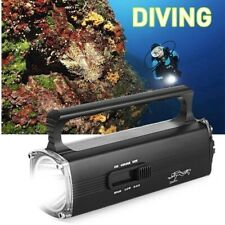 WINDFIRE Scuba Diving Flashlight Underwater 200M Video Camera Photography Light Torch Diving Flashlight with Ball Joint Bracket,18650 Rechargeable Batteries and Charger