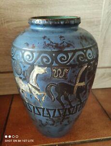 Keramik Vase CERAMANO Pergamon 106/1 1970s Pottery Hans Welling