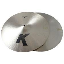 "Zildjian K0923 15"" K Light Hihat Pair Drumset Bronze Cymbals Low Pitch - Used"
