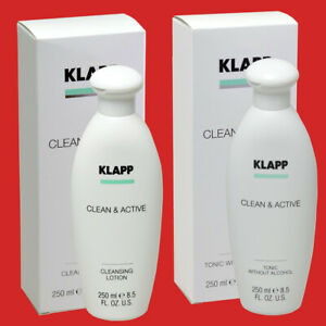 KLAPP Clean Active Cleansing Lotion und Tonic Without Alcohol je 250 ml